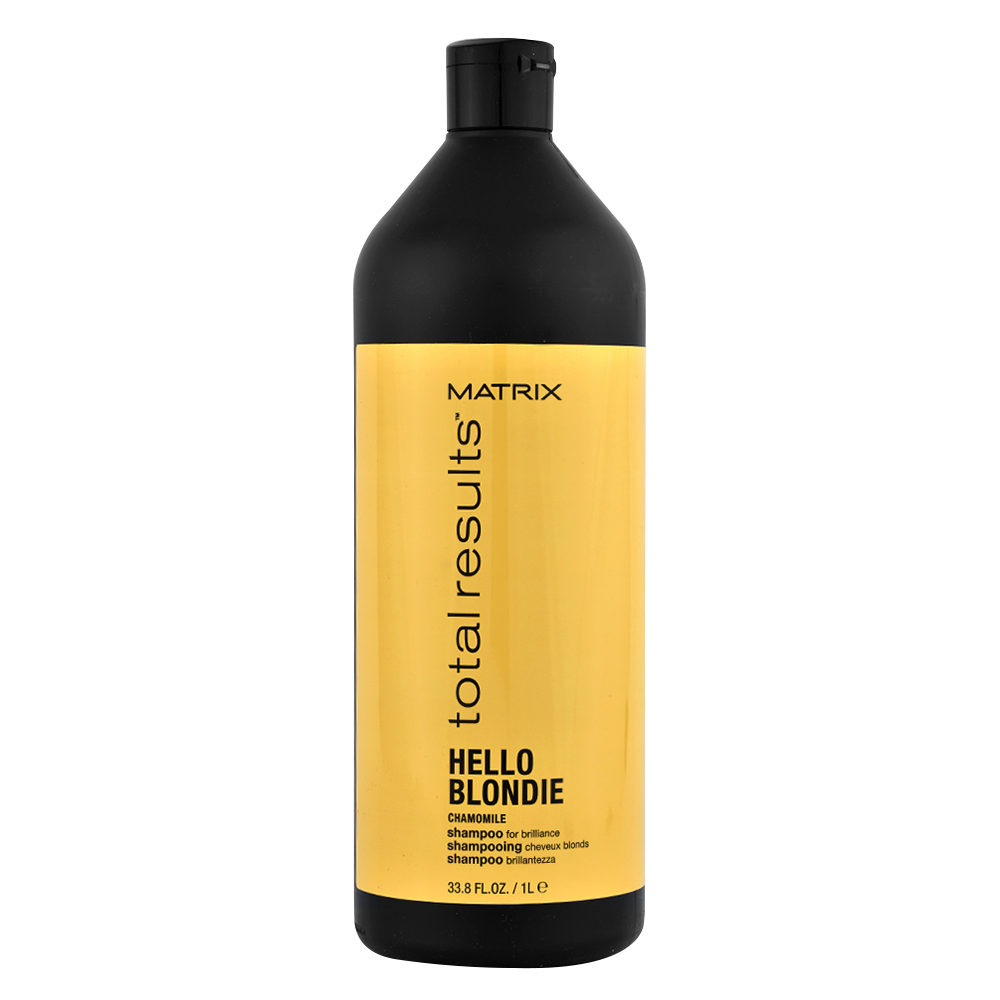Matrix Total Results Hello blondie Camomile Shampoo 1000ml - shampoo capelli biondi