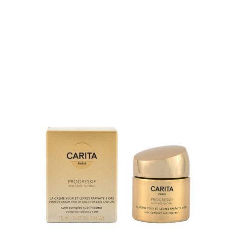 Carita Skincare Progressif Anti-age global La creme parfaite yeux et levres 15ml - trattamento contorno occhi e labbra