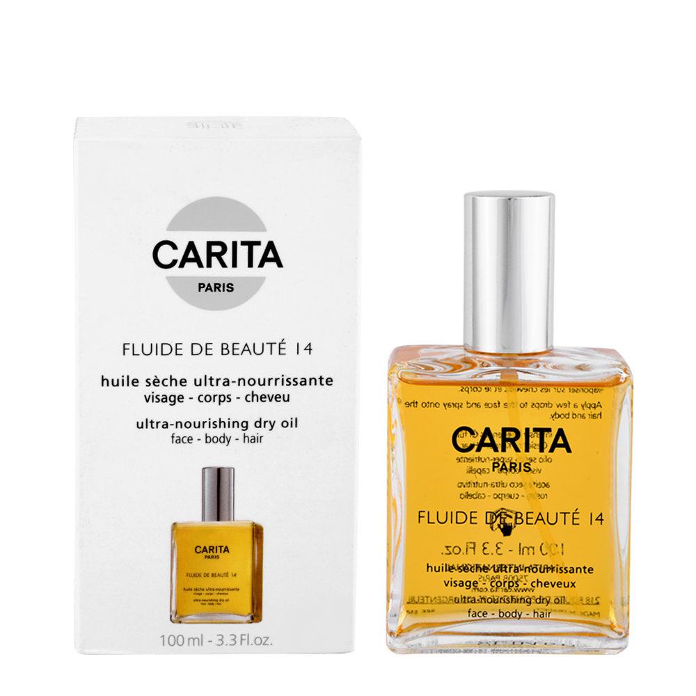 Carita Les classiques Fluide de beauté 14, 100ml - olio secco nutriente per viso, corpo e capelli