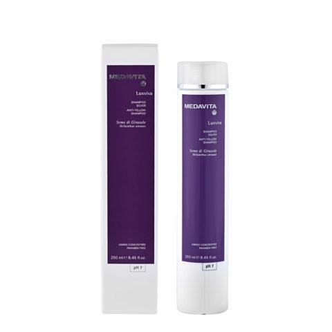 Medavita Lunghezze Luxviva Shampoo silver pH 7,  250ml