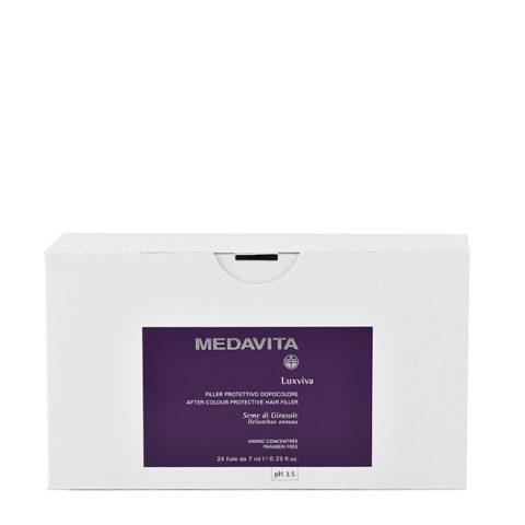 Medavita Lunghezze Luxviva Filler protettivo dopocolore pH 3.5  24x7ml