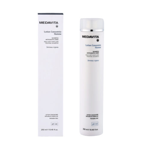 Medavita Cute Lotion concentree homme Shampoo anticaduta uomo pH 4.8  250ml