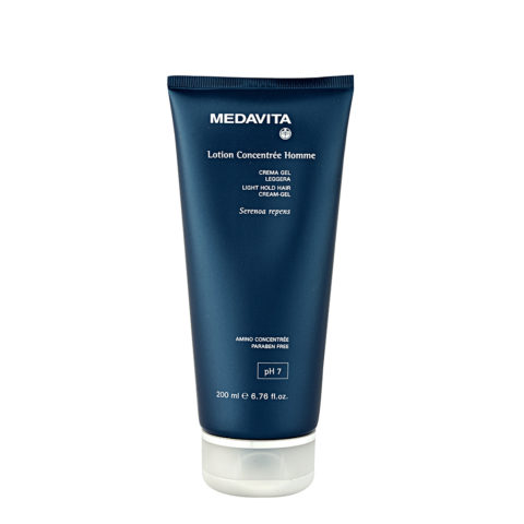Medavita Cute Lotion concentree homme Crema gel leggera pH 7  200ml