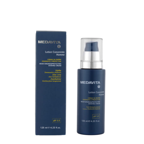 Medavita Cute Lotion concentree homme shave Crema da barba idratante e protettiva pH 5.5  125ml