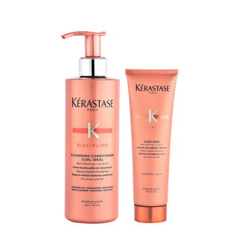 Kerastase Discipline Curl ideal Kit Shampoo 2 in 1 400ml e Crema Ricci definiti 150ml