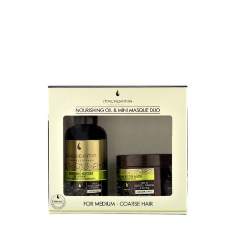 Macadamia Nourishing moisture Duo: Oil treatment 125ml Masque 60ml - kit idratante