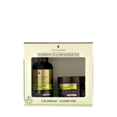 Macadamia Nourishing moisture Duo: Oil treatment 125ml Masque 60ml - kit idratante