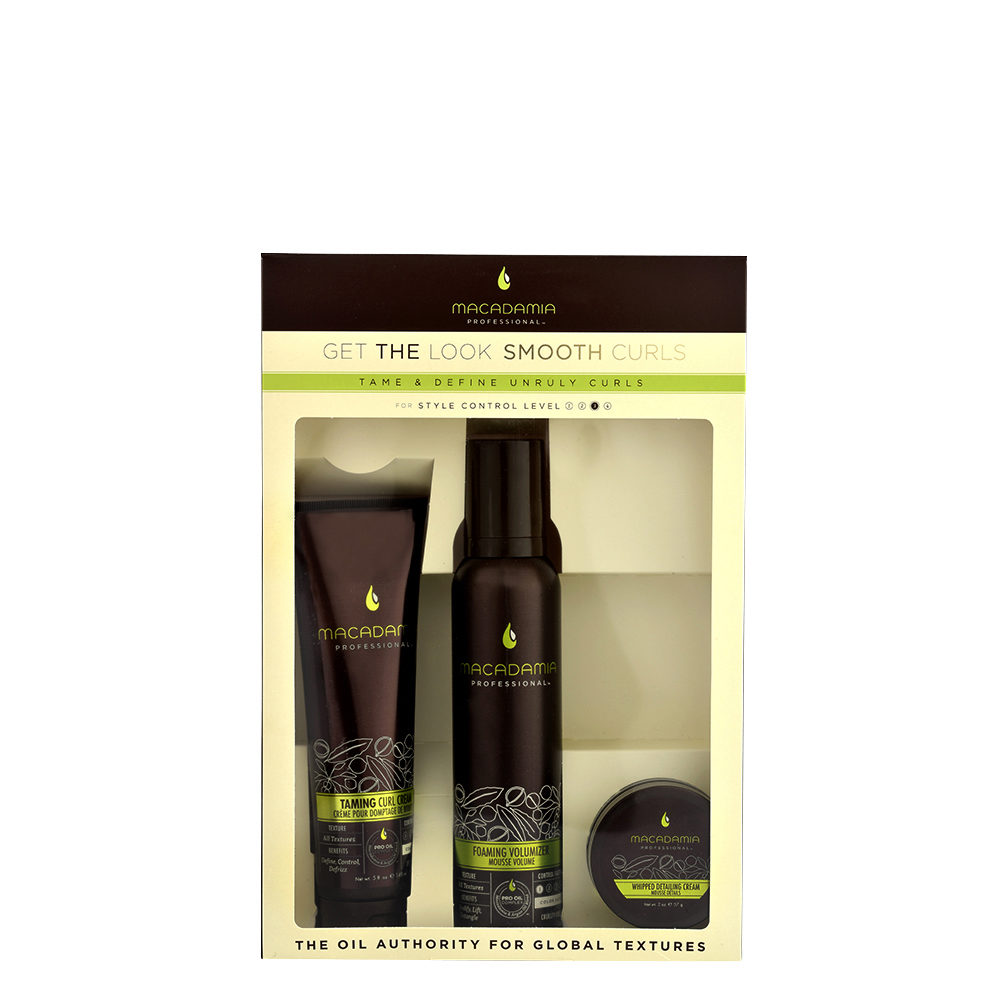 Macadamia Style kit Get the look Smooth curls - kit anticrespo capelli ricci