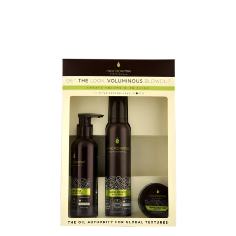 Macadamia Style kit Get the look Voluminous blowout - kit per capelli fini e piatti