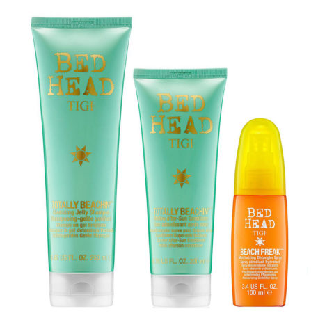 Tigi Beach Kit Shampoo 250ml Conditioner 250ml Spray Districante Idratante 100ml