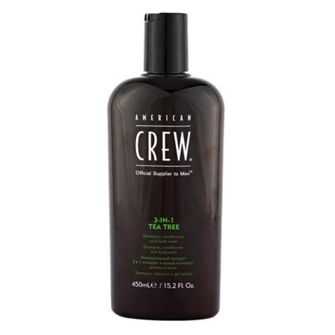 American crew Tea Tree 3-in-1 Shampoo Conditioner and Body Wash 450ml
