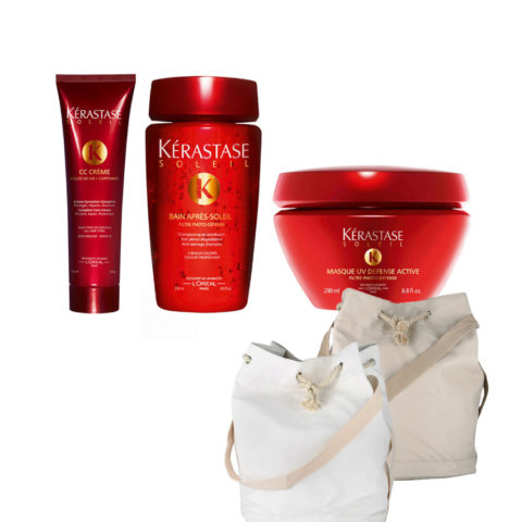 Kerastase Soleil Kit  CC Crème 150ml  Bain Photo-defense 250ml  Masque 200ml  Omaggio Sun bag