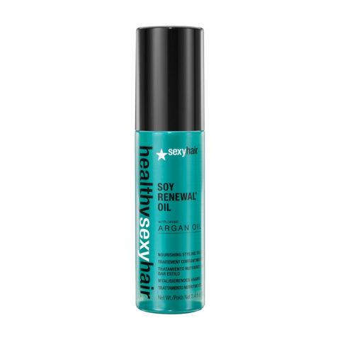 Healthy Sexy Hair Soy Renewal Oil Nourishing Styling Treatment 100ml - olio idratante alla soia