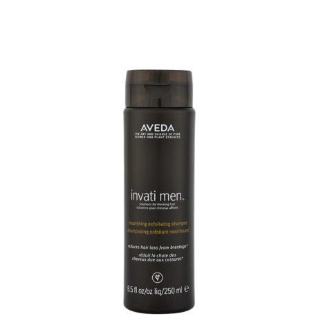 Aveda Invati Men Exfoliating Shampoo 250ml - shampoo esfoliante per capelli fini e diradati