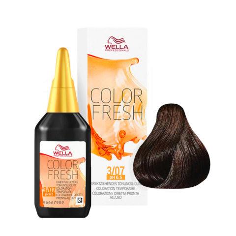 3/07 Castano scuro naturale sabbia Wella Color fresh 75ml
