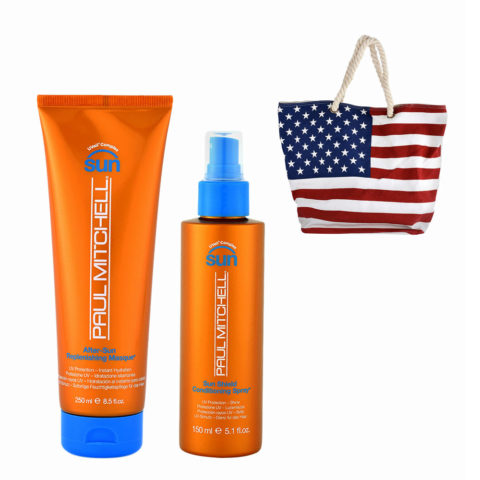 Paul Mitchell Sun Kit Masque 250ml Conditioning spray 150ml Omaggio Borsa mare
