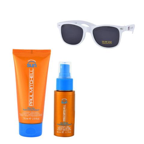 Paul Mitchell Sun Kit Masque 75ml Conditioning spray 50ml Omaggio Occhiali da sole