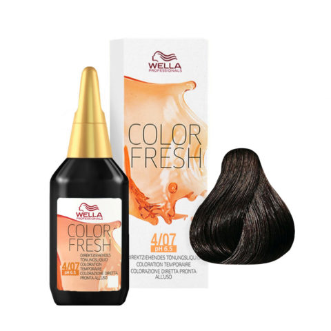 4/07 Castano medio naturale sabbia Wella Color fresh 75ml