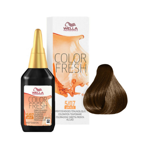 5/07 Castano chiaro naturale sabbia Wella Color fresh 75ml