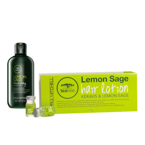 Paul Mitchell Tea tree Lemon Sage Program Shampoo 300ml   Hair Lotion 12x6ml