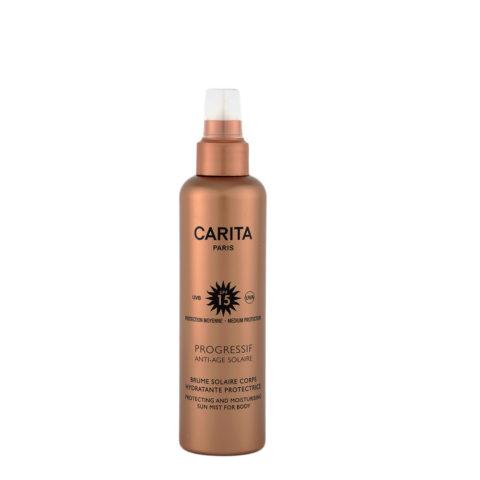 Carita Skincare Brume Solaire Corps Hydratante Protectrice SPF 15, 200ml - latte solare per il corpo