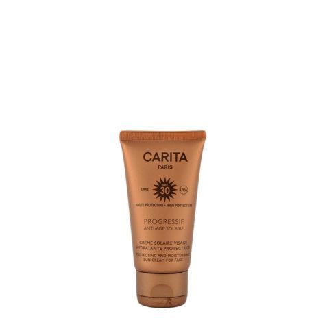 Carita Skincare Crème Solaire Visage Hydratante Protectrice SPF 30, 50ml - crema solare viso