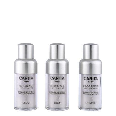 Carita Skincare Progressif Lift Fermetè Jeunesse Intensif Nuit 3X15ml - programma revitalizzante per pelli stanche