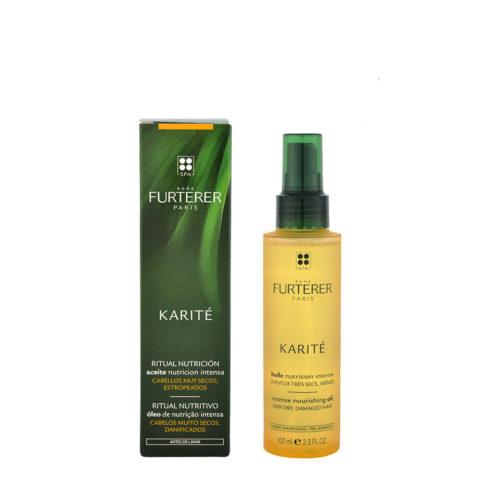 René Furterer Karité Intense Nourishing Oil 100ml - olio di bellezza pre-shampoo