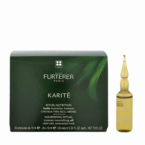 René Furterer Karité Intense Nourishing Oil 24x10ml - olio di bellezza pre-shampoo