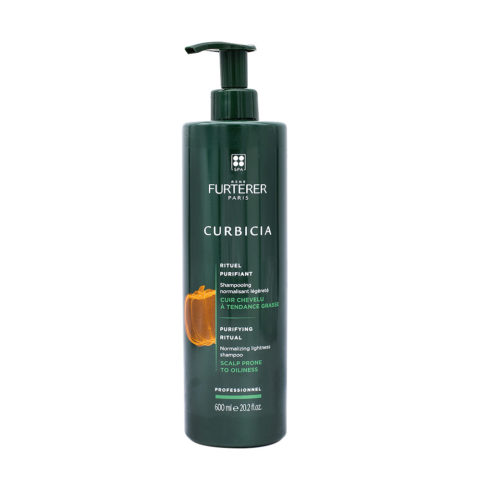 René Furterer Curbicia Normalizing Lightness Shampoo 600ml - shampoo purificante per cute grassa