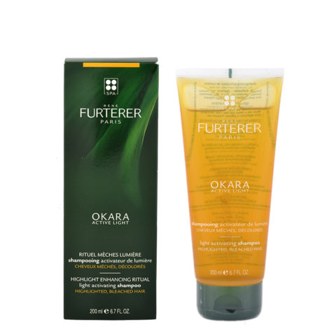 René Furterer Okara Light Activating Shampoo 200ml - shampoo per capelli con mèches, colpi di sole, decolorati