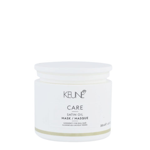 Keune Care Line Satin Oil Mask 200ml - Maschera Illuminante Per Capelli Spenti E Secchi