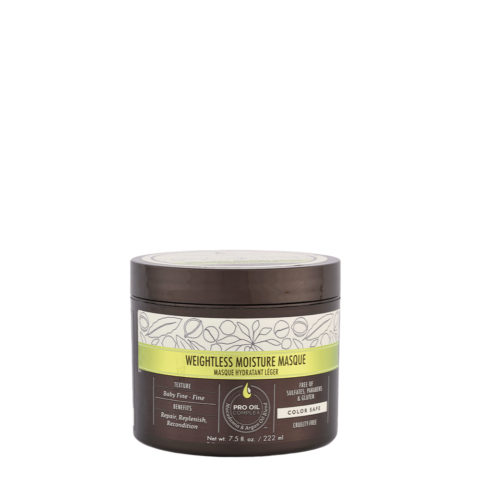 Macadamia Weightless moisture Masque 222ml - maschera idratante leggera