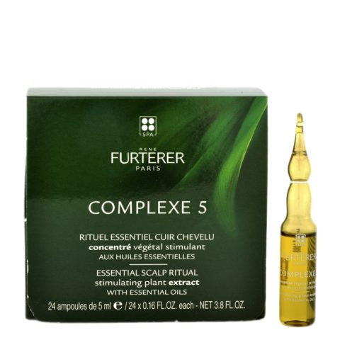 René Furterer Complexe 5 Stimulating Concentrate 24x5ml - concentrato stimolante per cuoio capelluto