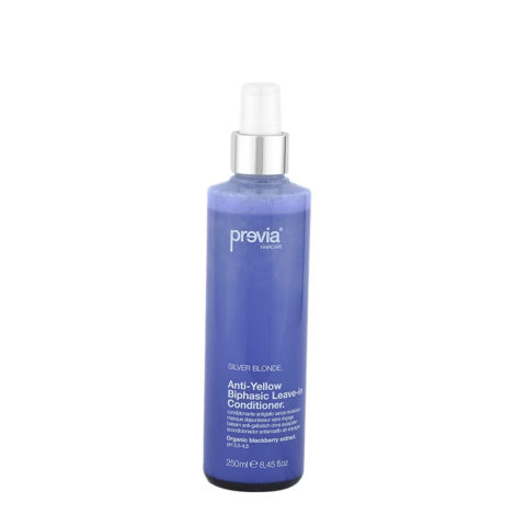 Previa Silver Blonde Anti-Yellow Biphasic Leave in Conditioner 250ml - balsamo anti-giallo senza risciacquo