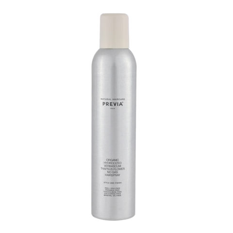 Previa Finish Organic Hydrolized Verbascum Thapsus Flower No Gas Hairspray 350ml - lacca no gas