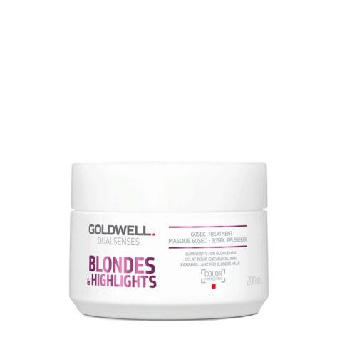 Goldwell Dualsenses blond & highlights 60sec treatment 200ml - maschera antigiallo