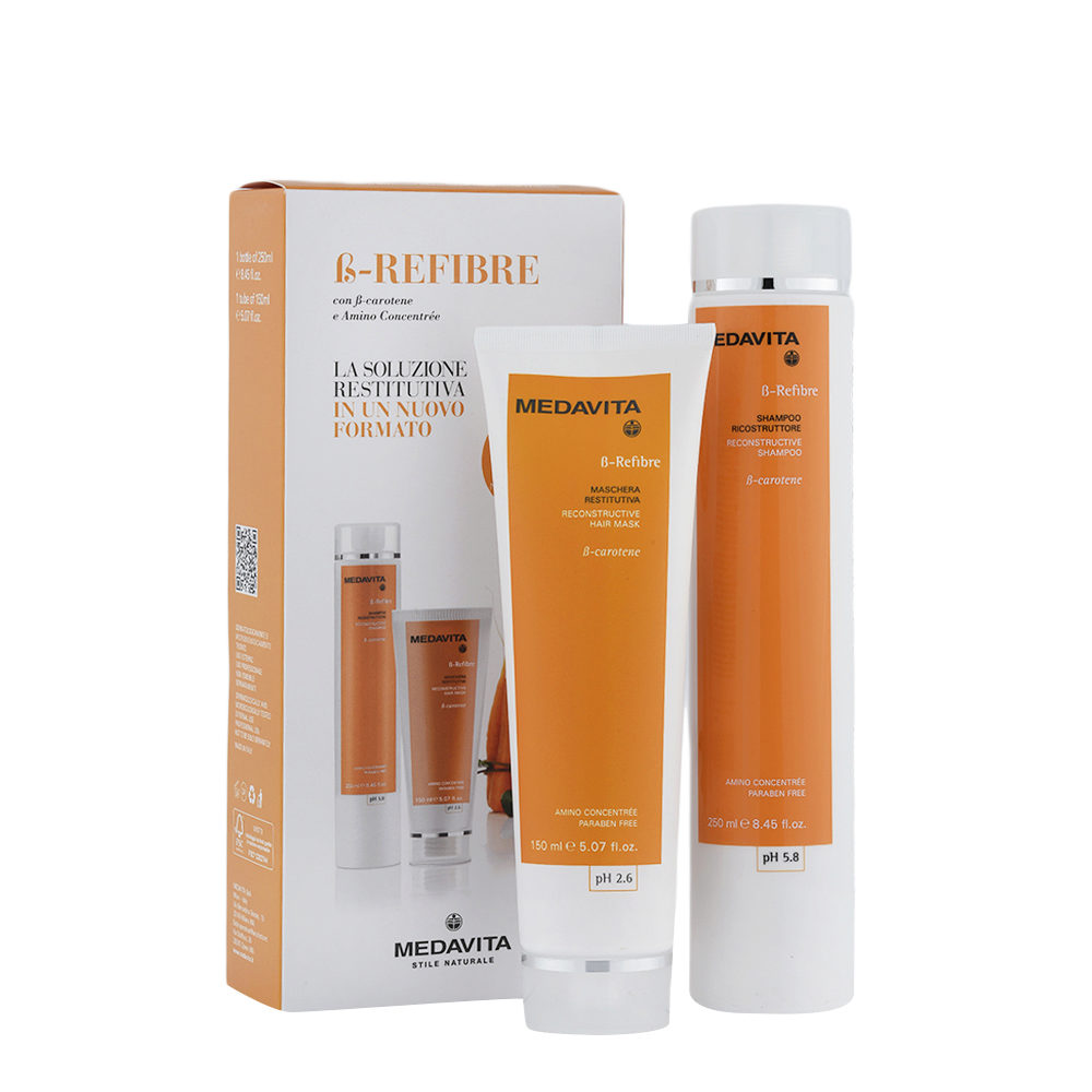 Medavita Lunghezze ß-Refibre Shampoo 250ml e Maschera 150ml