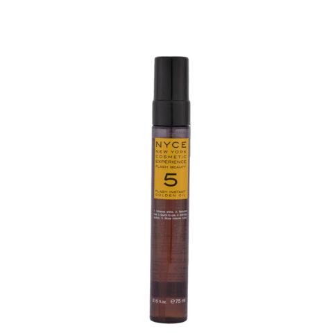 Nyce Flash Beauty Instant Golden Oil 75ml - olio ristrutturante capelli secchi