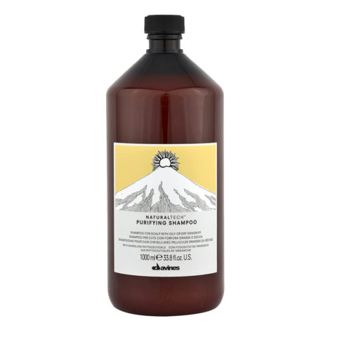 Davines Naturaltech Purifying Shampoo 1000ml - Shampoo purificante antiforfora