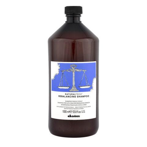 Davines Naturaltech Rebalancing Shampoo 1000ml - Shampoo riequilibrante