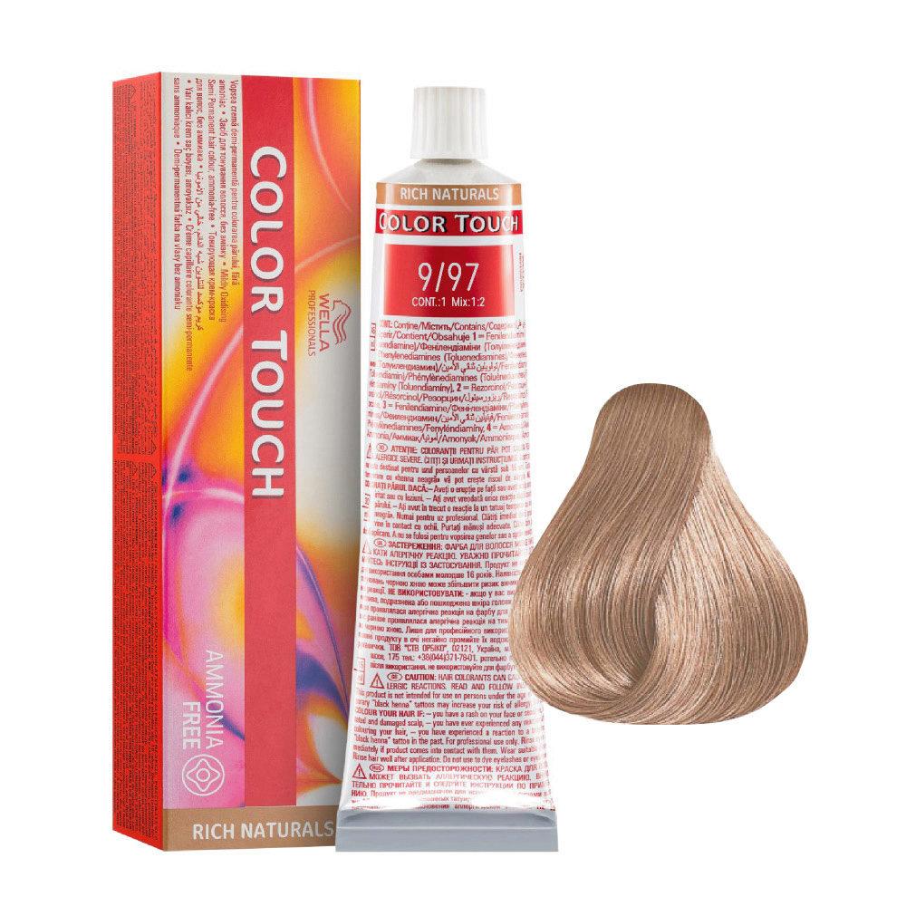 9/97 Biondo Chiarissimo Cendrè Sabbia Wella Color Touch Rich Naturals senza ammoniaca 60ml