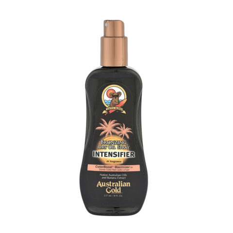 Australian Gold Linea Outdoor Bronzing Dry Oil Intensifier Intensificatore con Natural Bronzer 237ml