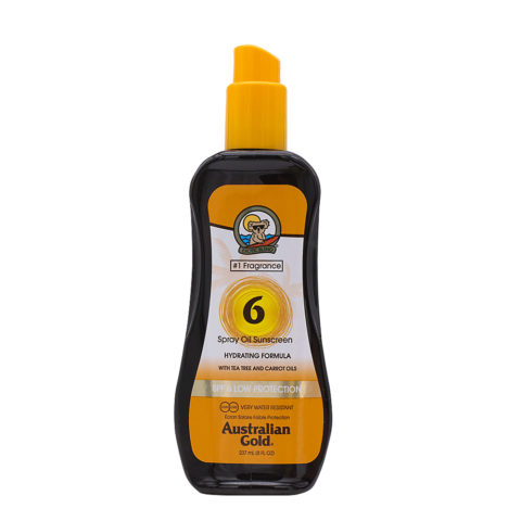 Australian Gold Protezioni Solari SPF6 Spray Oil con Carrot 237ml - olio spray con carota