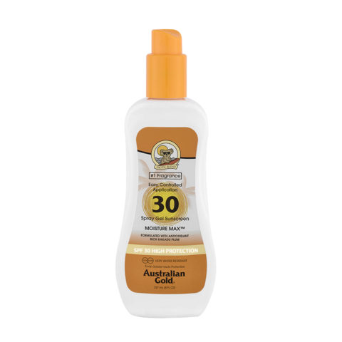 Australian Gold Protezioni Solari SPF30 Spray Gel 237ml