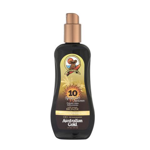 Australian Gold Protezioni Solari SPF10 Spray Gel con Bronzer 237ml