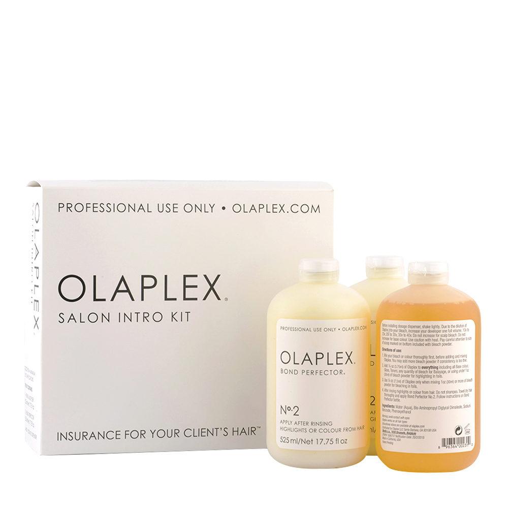 Olaplex Kit Ristrutturante Professionale tutti i tipi di Capelli N° 1, 525ml 2x N° 2, 525ml