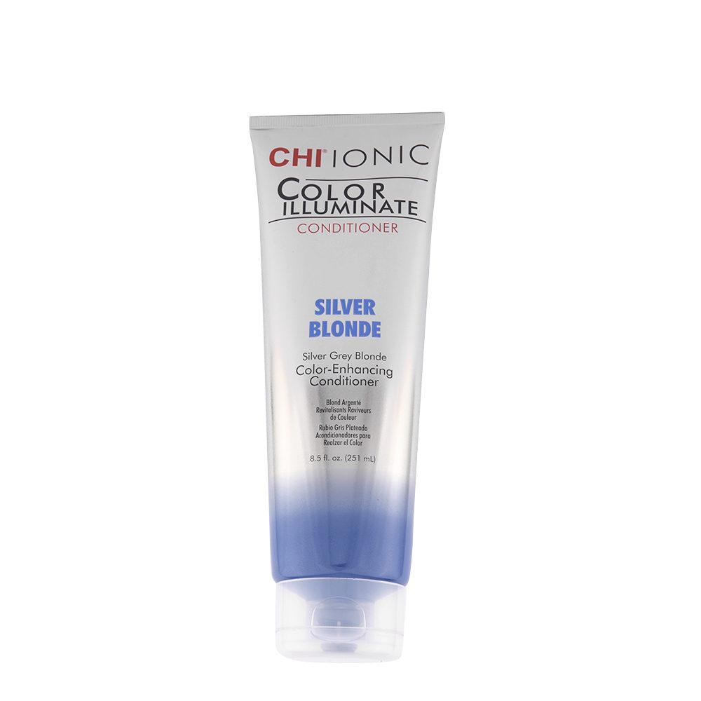 CHI Ionic Color Illuminate Conditioner Silver Blonde 251ml - balsamo illuminante colorato argento