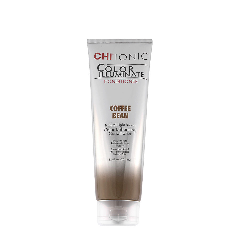 CHI Ionic Color Illuminate Conditioner Coffee Bean 251ml - balsamo illuminante colorato castano chiaro naturale