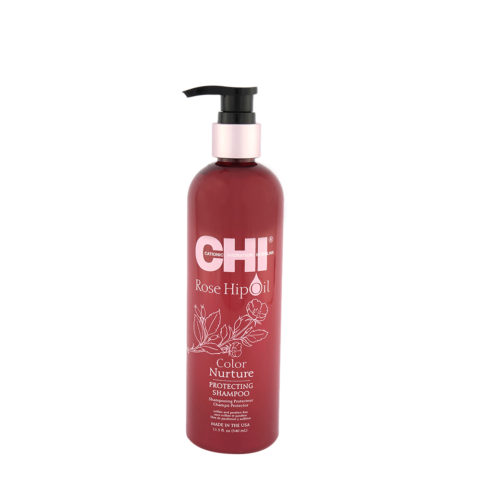 CHI Rose Hip Oil Protecting Shampoo 340ml - shampoo protettivo per capelli colorati